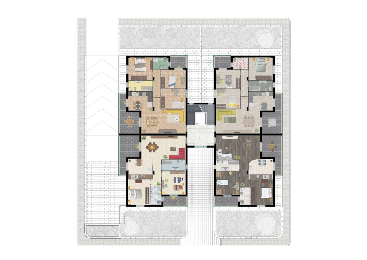 Pianta del Piano Secondo Edificio D